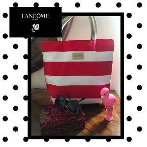 Lancôme Red & White Tote NWOT